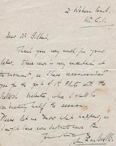Letter from Sir John Barbirolli