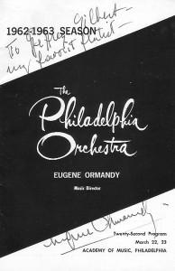 An autographed souvenier, 1963